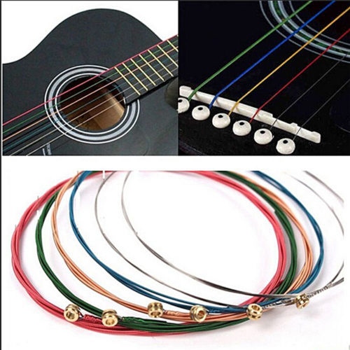 Guitar Strings 6-Piece Multi-color Set