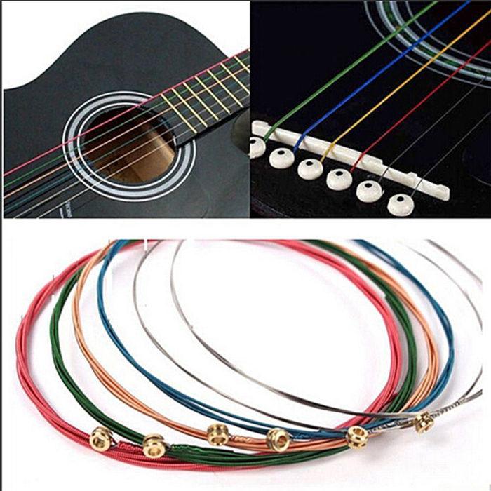 Guitar Strings 6-Piece Multi-color Set