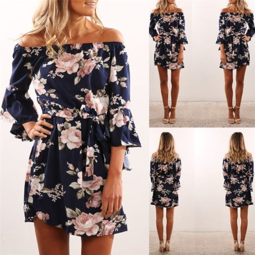 Chiffon Dress Floral Print