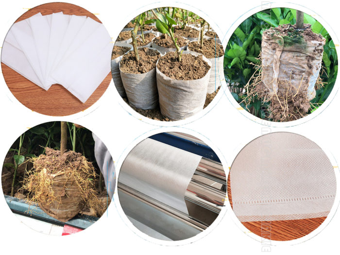 100PC Non-Woven Grow Biodegradable Bags
