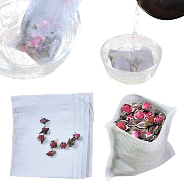 100PC Empty Drawstring Tea Bags