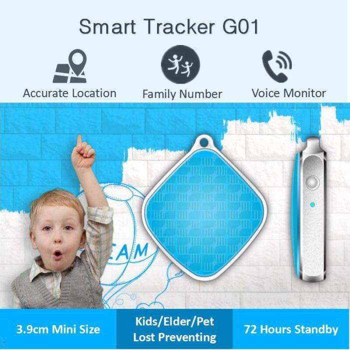 Child GPS Tracker Mini Keychain