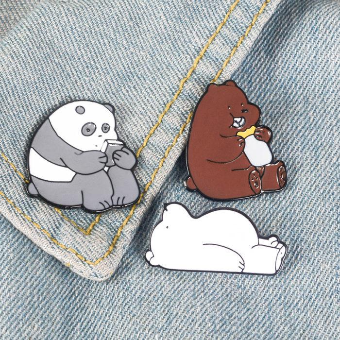Enamel Pins We Bare Bears Fashion Brooch
