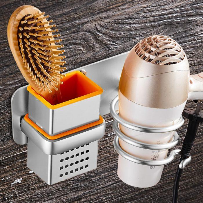 Wall Mount Rack Hair Dryer Holder