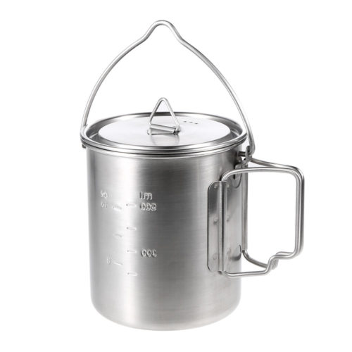 Stainless Steel Pot Portable Camping Mug