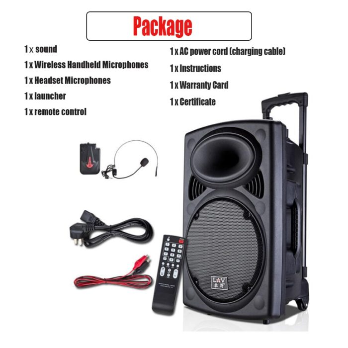 Trolley Speaker Portable Bluetooth Stereo