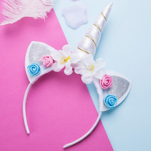 Unicorn Horn Flower Headband for Kids