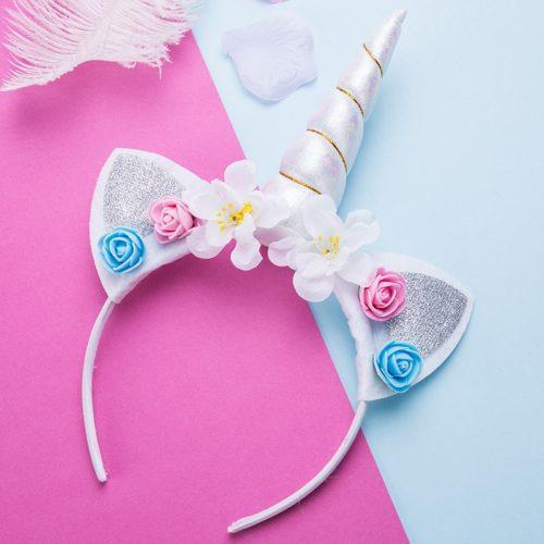 Unicorn Horn Flower Headband for Kids