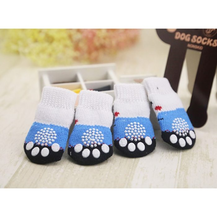 Dog Socks Anti-slip Bottom 4PC Set
