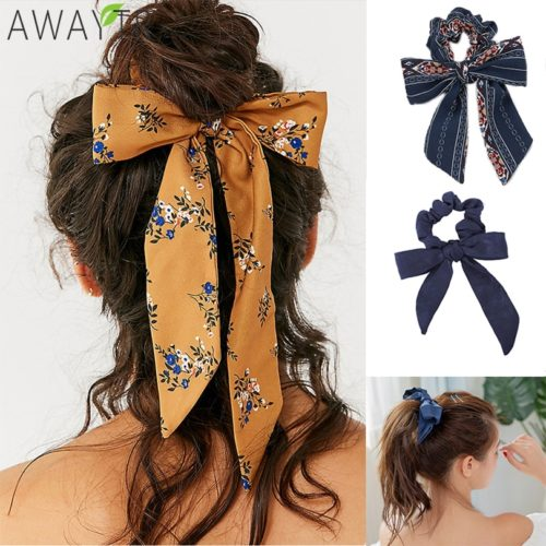 Hair Scrunchies Ribbon Hair Streamer