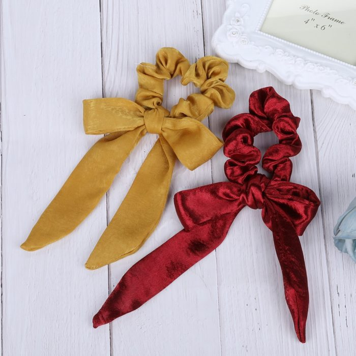 Hair Scrunchies Ribbon Hair Streamer