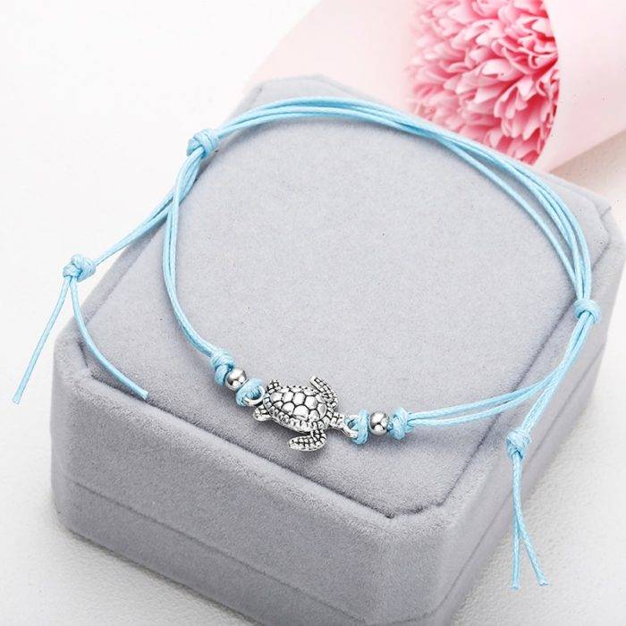 Ankle Bracelet with Turtle Charm