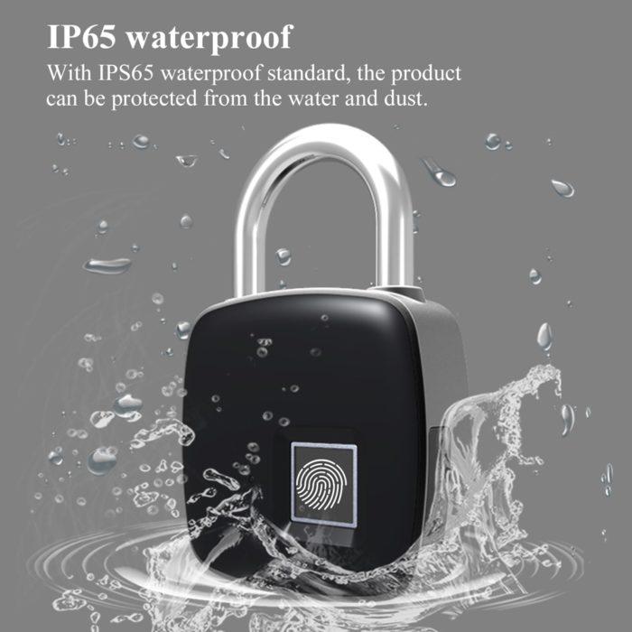 Keyless Door Lock Fingerprint Padlock