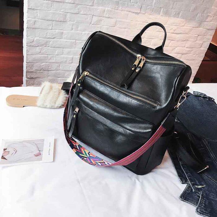 Leather Rucksack Multiform Backpack