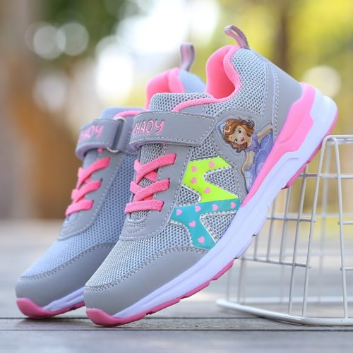Girls School Shoes Sporty Footwear
