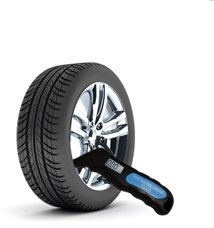 Tire gauge digital pressure meter
