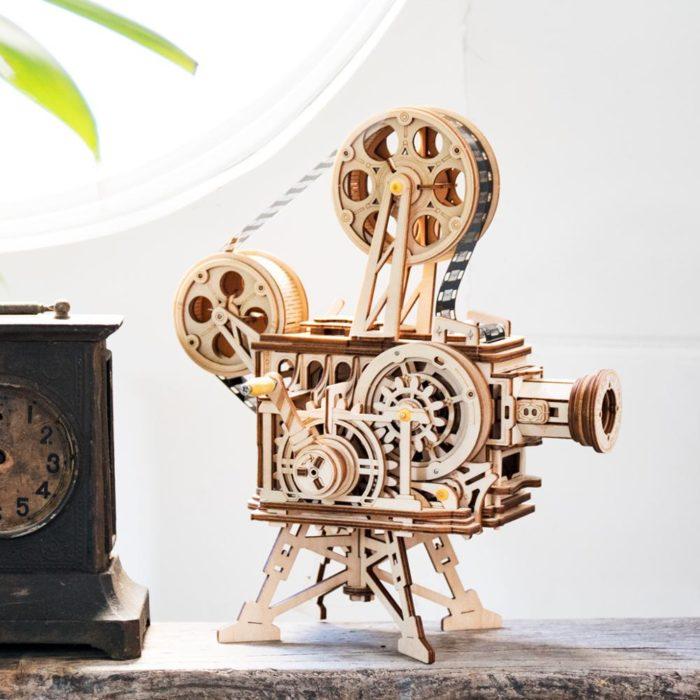 3D Wooden Puzzle DIY Film Projector