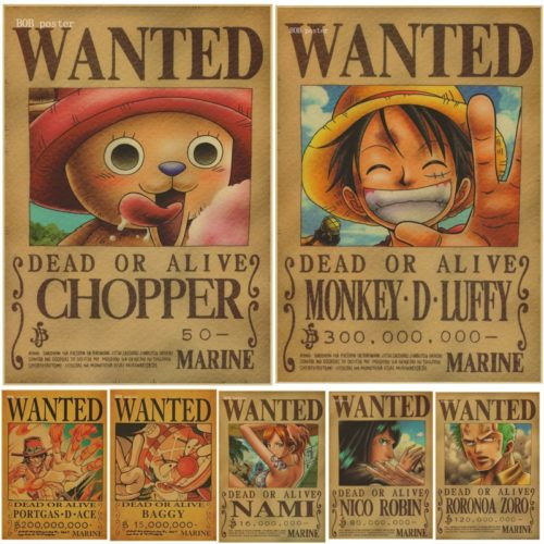 One Piece Poster Wall Sticker