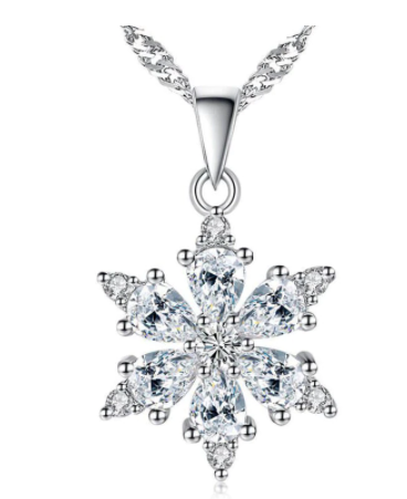 Snowflake Necklace Party Jewelry