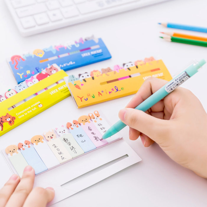 Memo Pad Cute Bookmarks