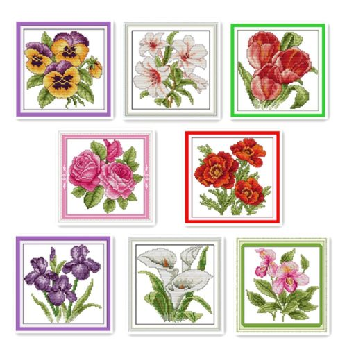Cross Stitch Kits Flower Designs