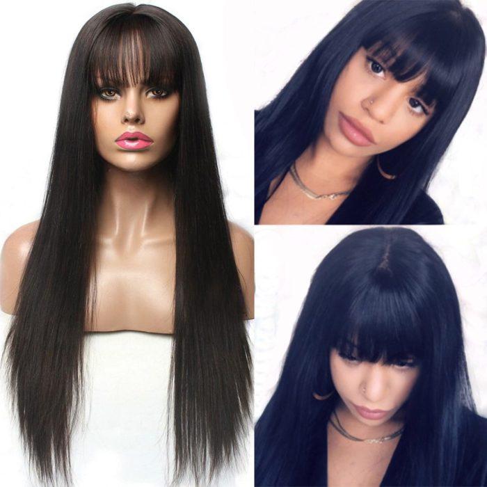 Wigs with Bangs Human Hair