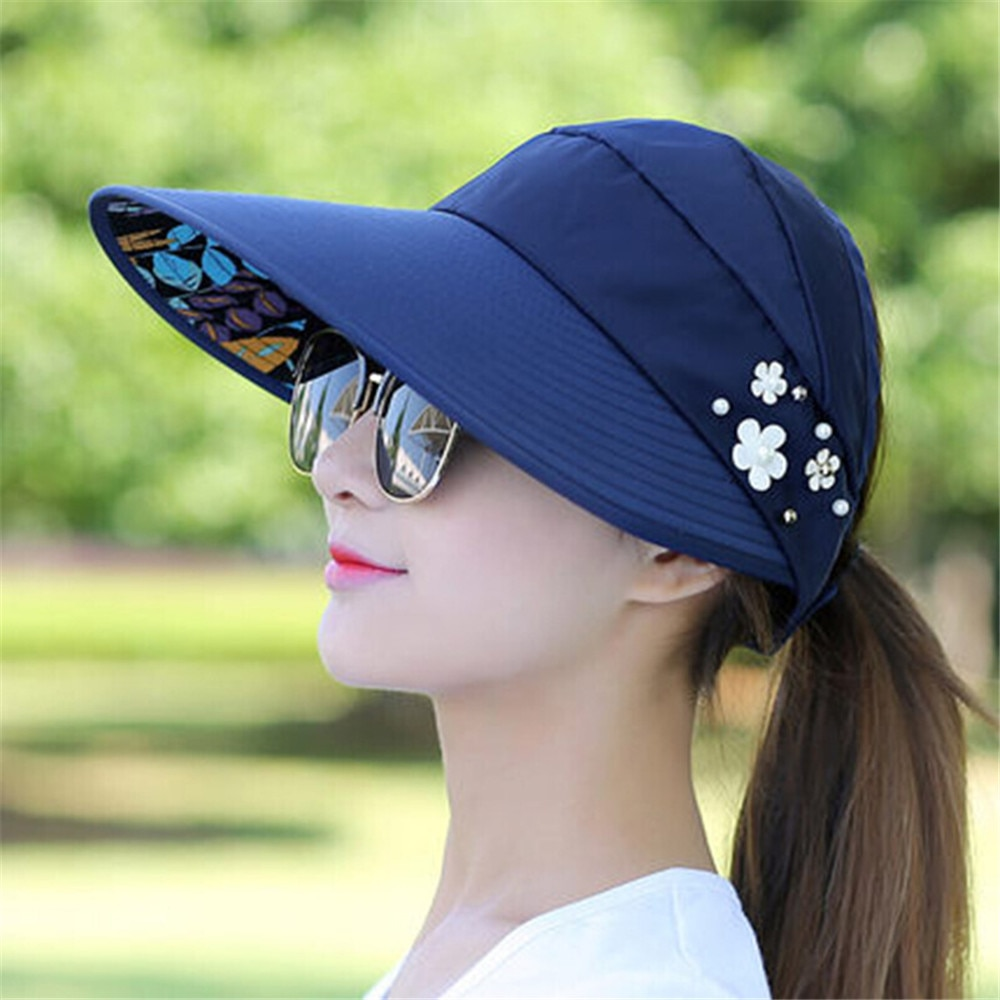 bdc8ff4c Ladies Sun Hat UV Protection Visor - Life Changing Products