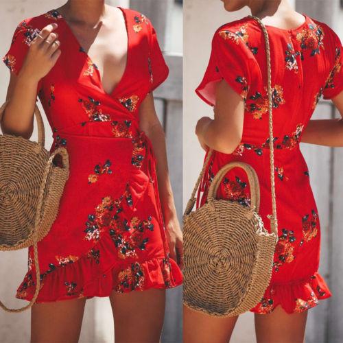 Wrap Around Dress with Ruffles