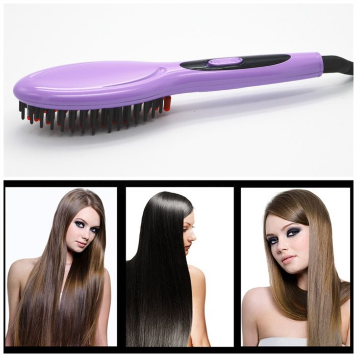 Electric Hair Brush Straightening Tool