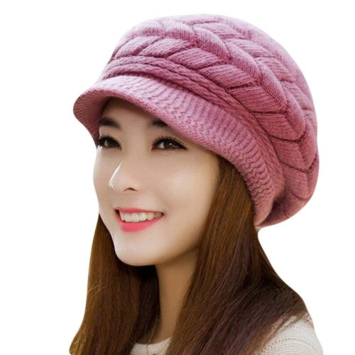 Knit Hat Ladies Beanie Cap