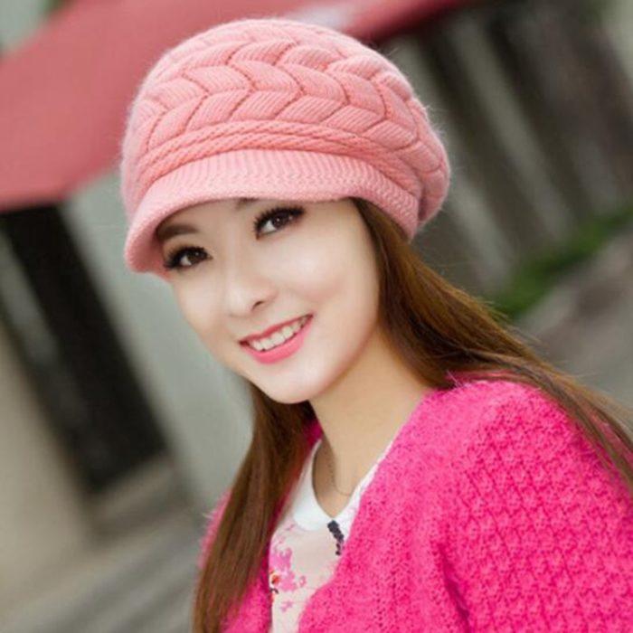 Knit Hat Ladies Beanie Cap