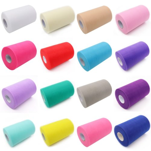 Tulle Fabric Rolls DIY Projects