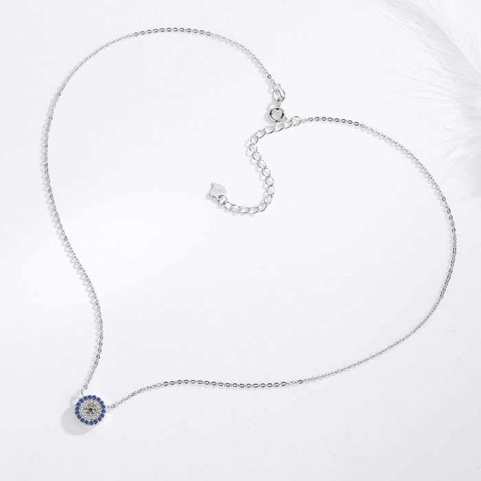 Evil Eye Necklace Sterling Silver Jewelry