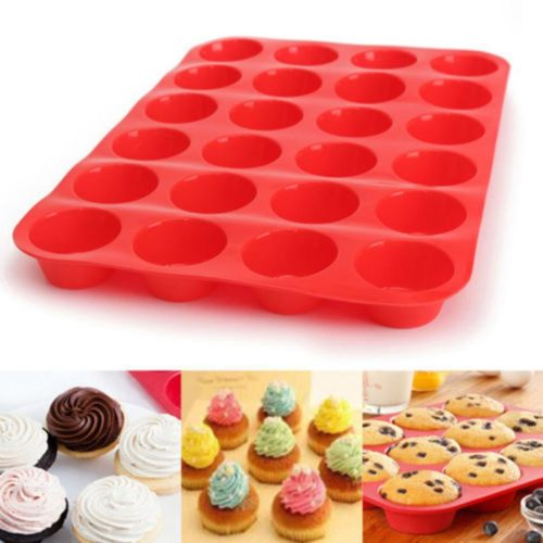 Cupcake Pan 24-Cavity Silicone Mold