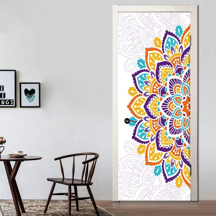 Door Stickers Mandala Home Decor