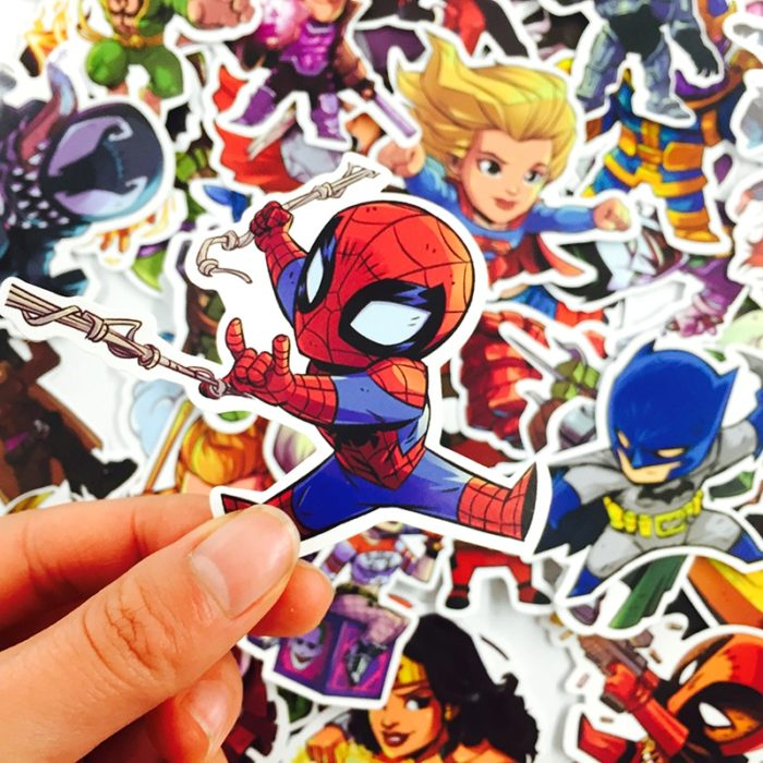 Cartoon Stickers Marvel DC Characters