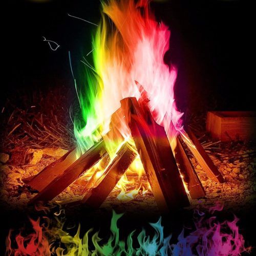 Mystical Fire Colorful Flames