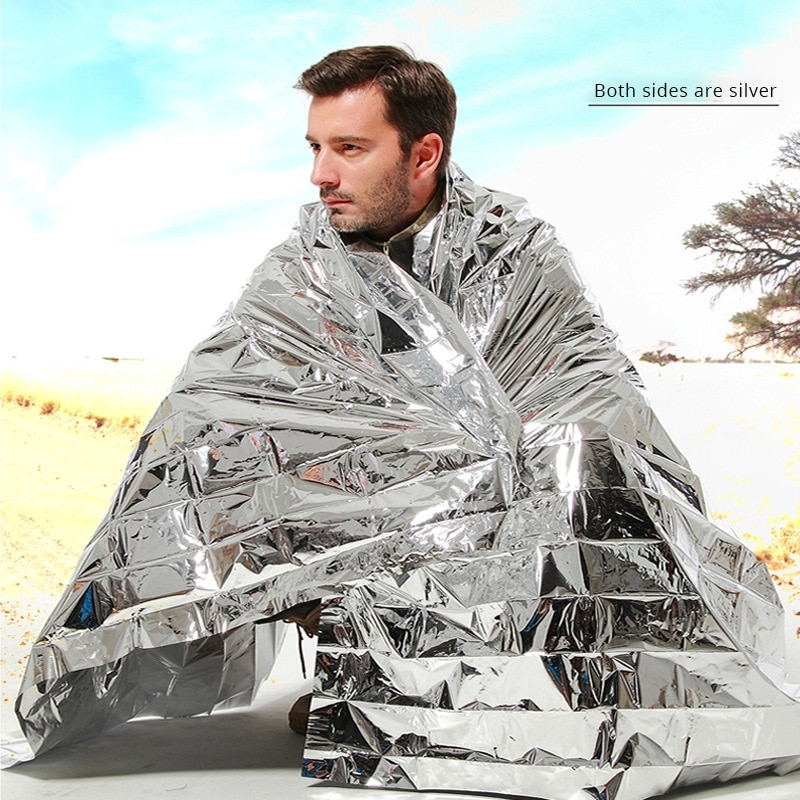 5 x Emergency Foil Survival Blankets 210 x 130cm Unpacked Size