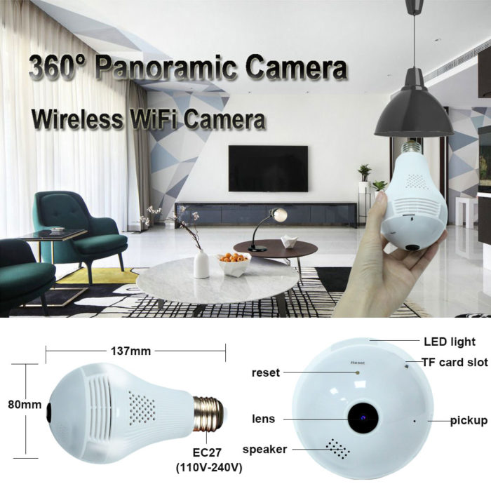 Home Surveillance Camera Panoramic Capture