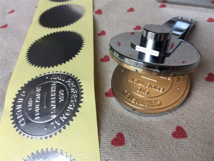 Embossing Stamp Seal Maker Tool