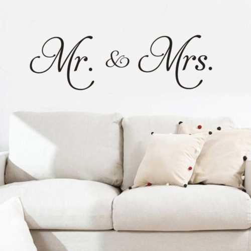 Vinyl Wall Decals Mr. & Mrs. Sticker