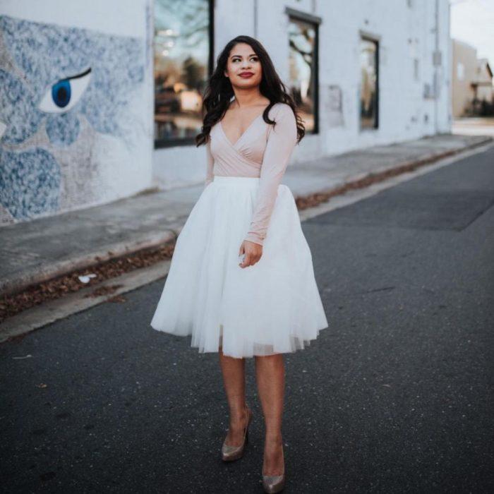 Tulle Midi Skirt Women's Fashion