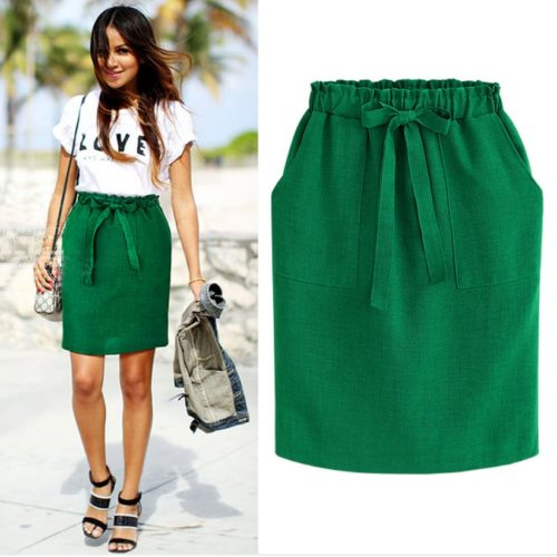 Midi Skirt Women's Fashion Statement