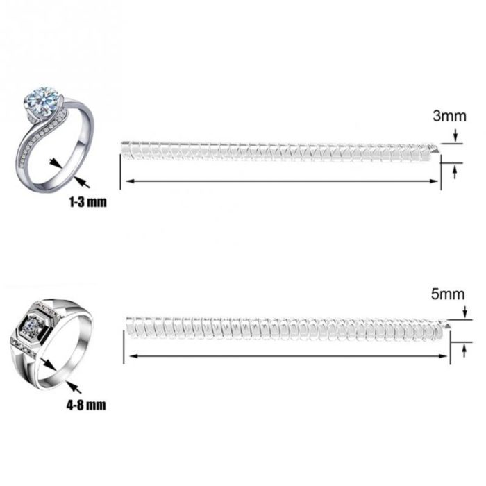 Ring Size Adjuster Spiral Tightener