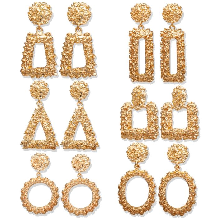 Gold Drop Earrings Fashionable Accessory