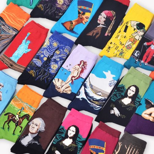 Art Socks Famous Paintings Design