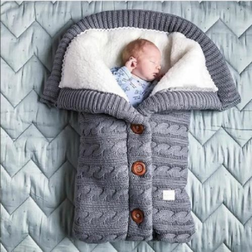 Newborn Sleeping Bag Knitted Swaddle