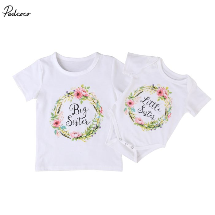 Family Shirts Little Big Sisters Set