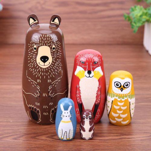 Russian Nesting Dolls 5PC Handmade Set