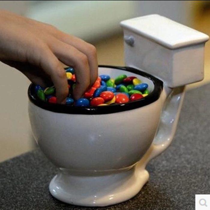 Ceramic Mug Novelty Toilet Cup